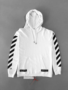 Off White Blue Collar White Hoodie Sweatshirt SS18 Collection