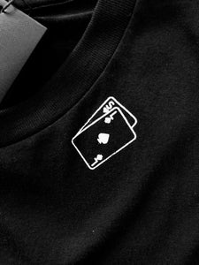 Yves Saint Laurent Playing Card Print Black T-shirt