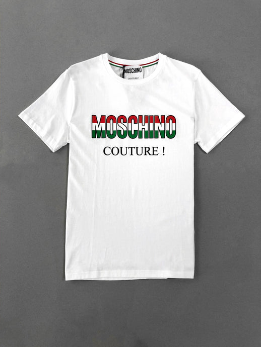Moschino Italy Logo Cotton White T-shirt
