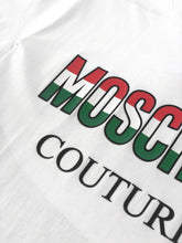 Load image into Gallery viewer, Moschino Italy Logo Cotton White T-shirt
