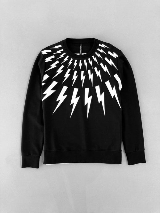 Neil Barret Lightning Bolt Printed Sweatshirt