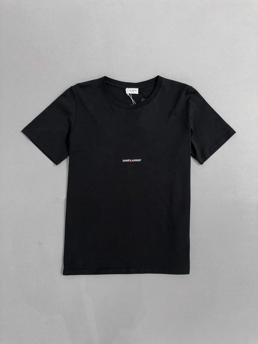 Yves Saint Laurent Logo Print Black T-shirt