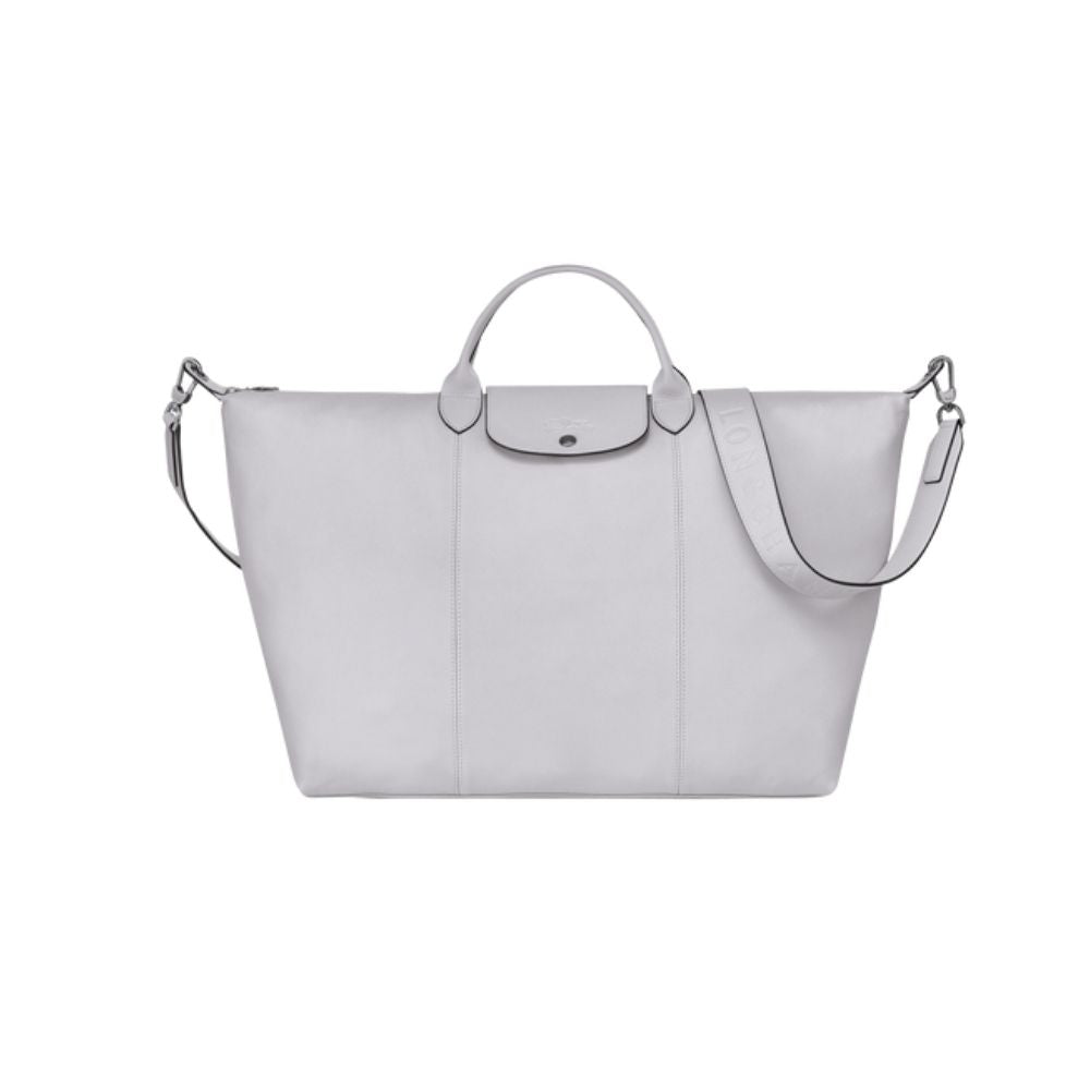 Longchamp Travel bag L Le Pliage Cuir Grey