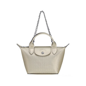 Longchamp Hand Bag Platinum Woman