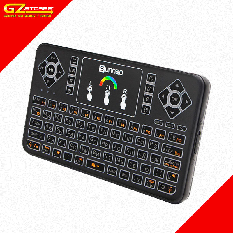 Teclado Q9 con Luces para TV-Box
