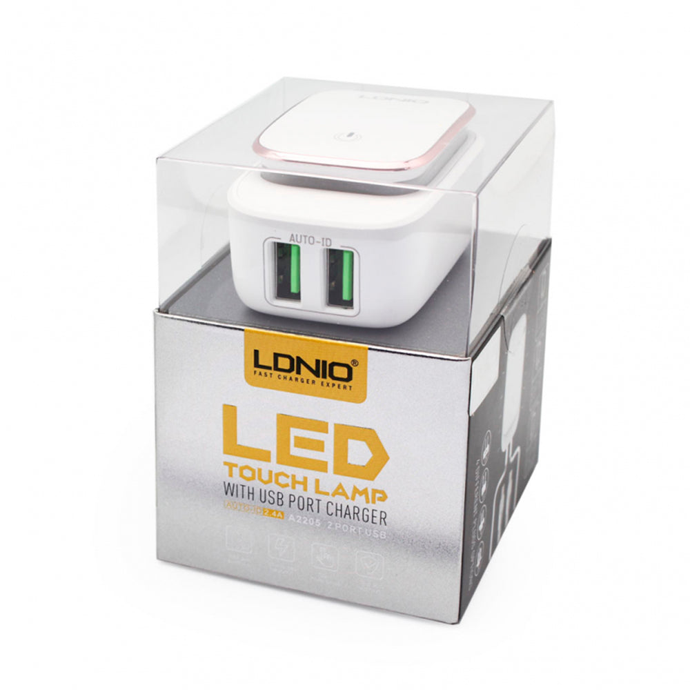 Cargador Led Touch Lamp 2.4amp LDNIO-A2205
