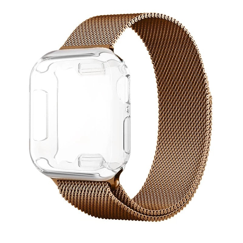 Manilla apple watch 7 cuentas rose dorado 38mm
