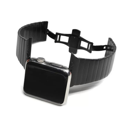 Manilla apple watch acero brillo negro 38mm