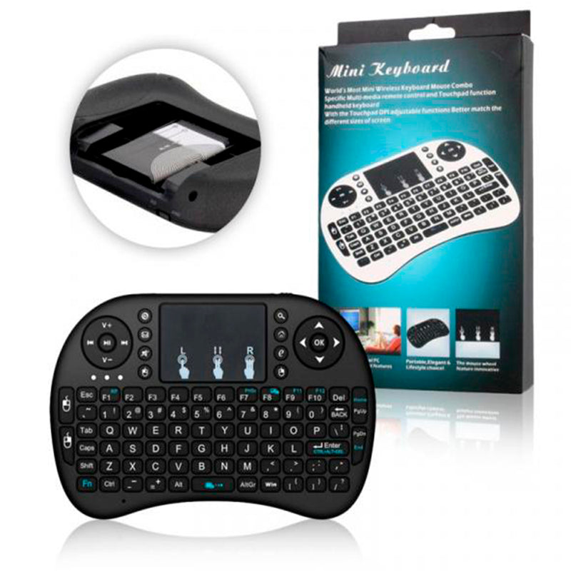 Mini Teclado Inalambrico Touchpad QWERTY (Bateria)
