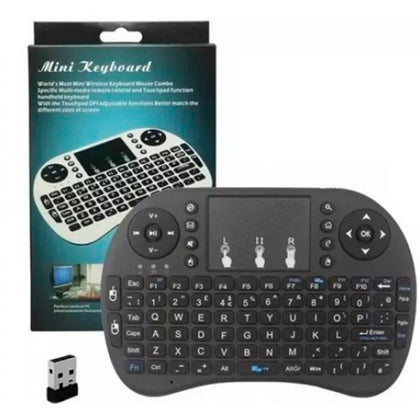 Mini Teclado Inalambrico Touchpad QWERTY (Pila)