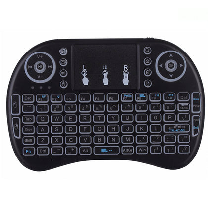 Mini Teclado Inalambrico Touchpad Retroiluminado QWERTY