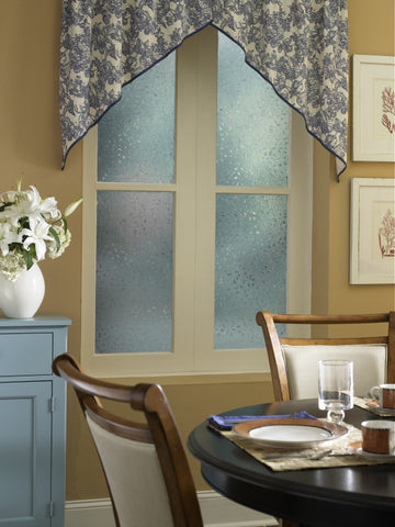 Maiden Hair glass film used in dining room protecting privacy from the outside