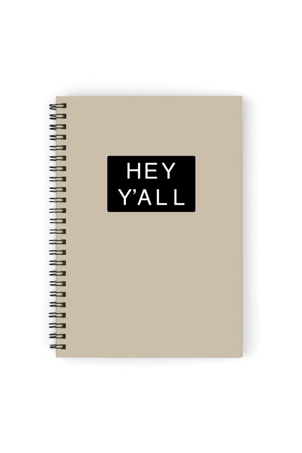 Hey Y'all Cream Notebook