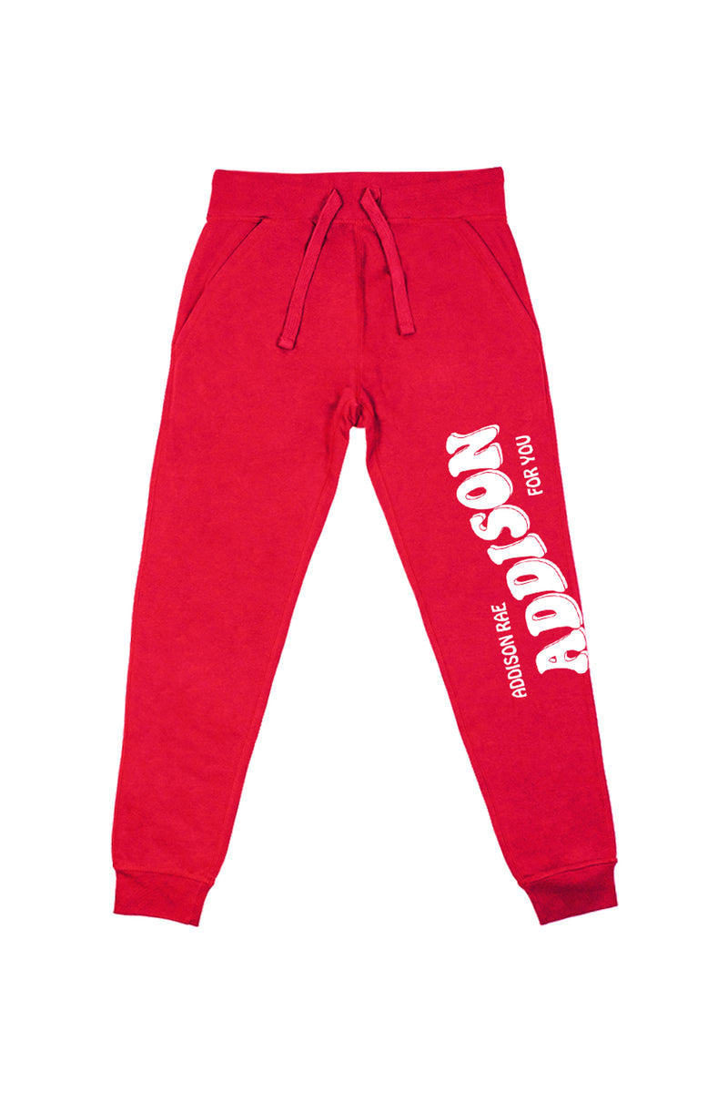 Addison For You Red Joggers