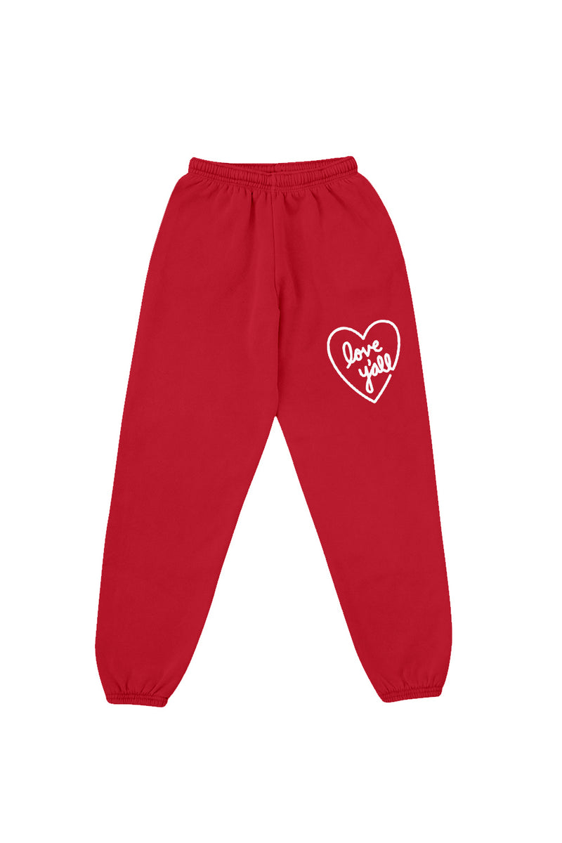 Love Y'all Red Sweatpants