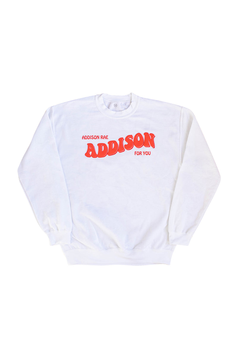 Addison For You White Crewneck
