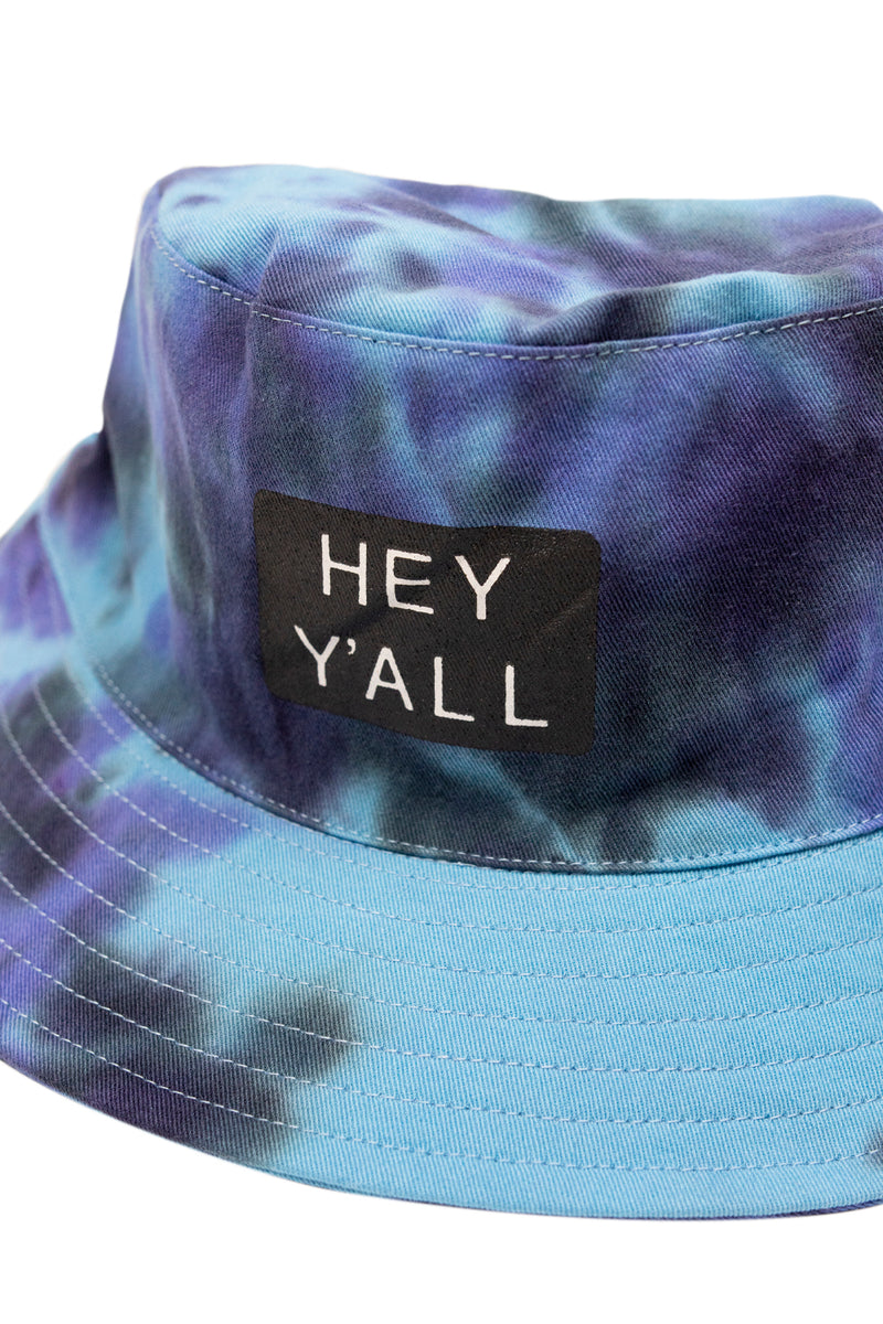 Hey Y'all Tie Dye Bucket Hat