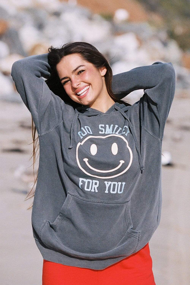 Addison Rae: Grey Too Smiley For You Hoodie