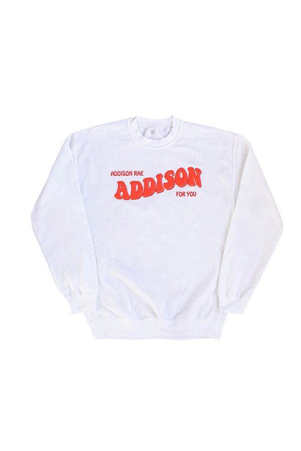 Youth Addison For You White Crewneck