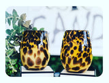 The Vintage Leopard Stemless Jar -SOLD OUT