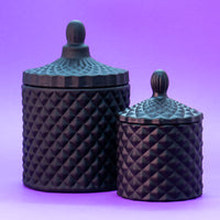 Matt Black Geo Cut Candle Jar - SOLD OUT