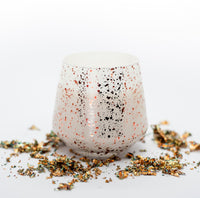 LOVE White Candle Jar with Rose Gold Speckles