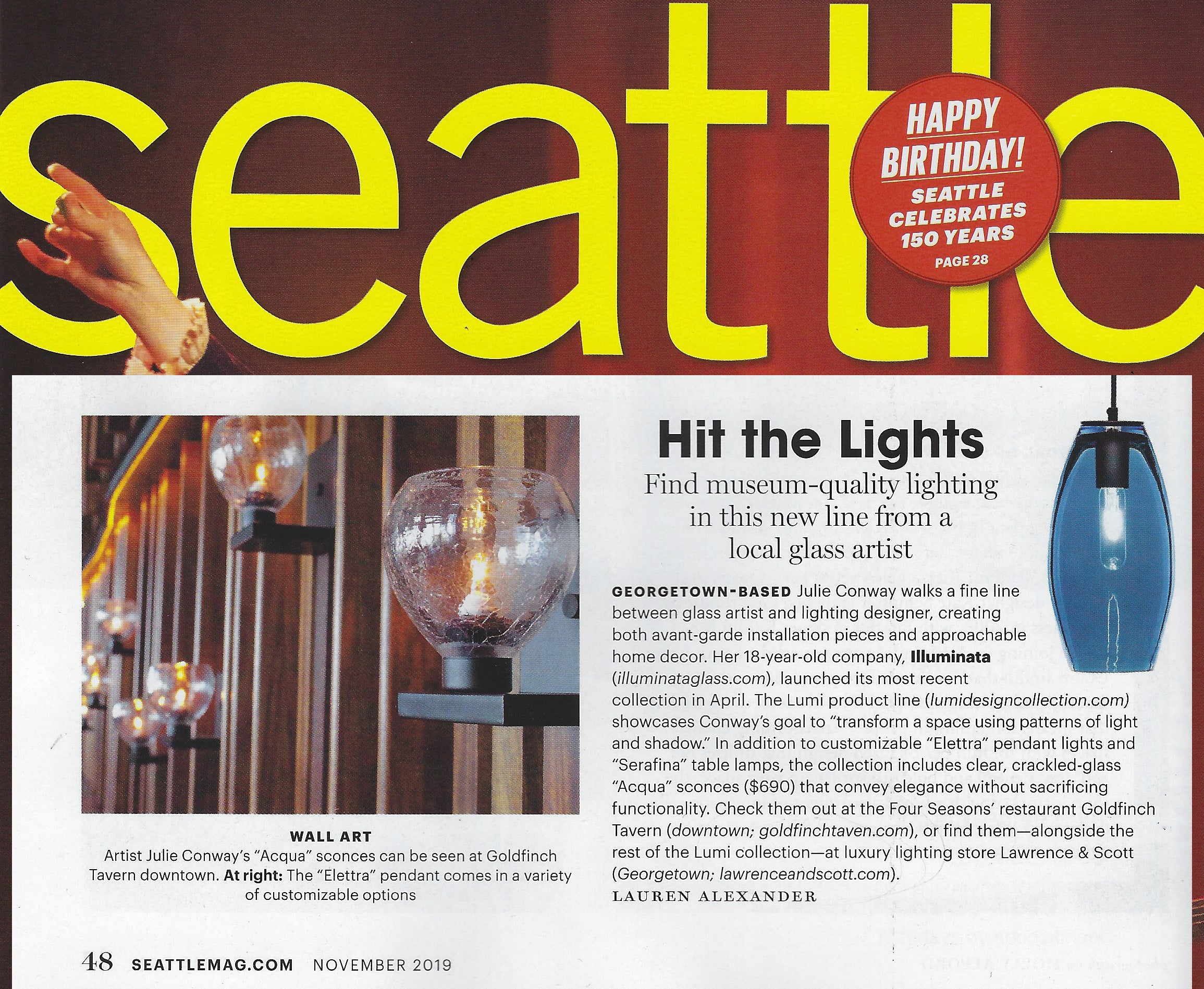 Seattle Magazine features LUMi Collection