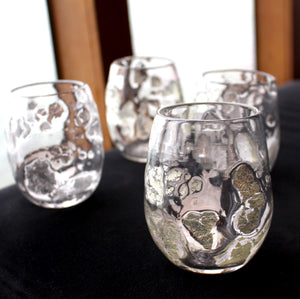 Recycled Glass Wine Glasses,  Perfect for the patio, fireside or kitchen table.  Dishwasher safe.