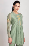 Anika Sage Green Shirt in Chanderi