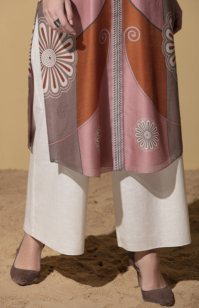 Mhambi Onion Pink Tunic Set in Chanderi
