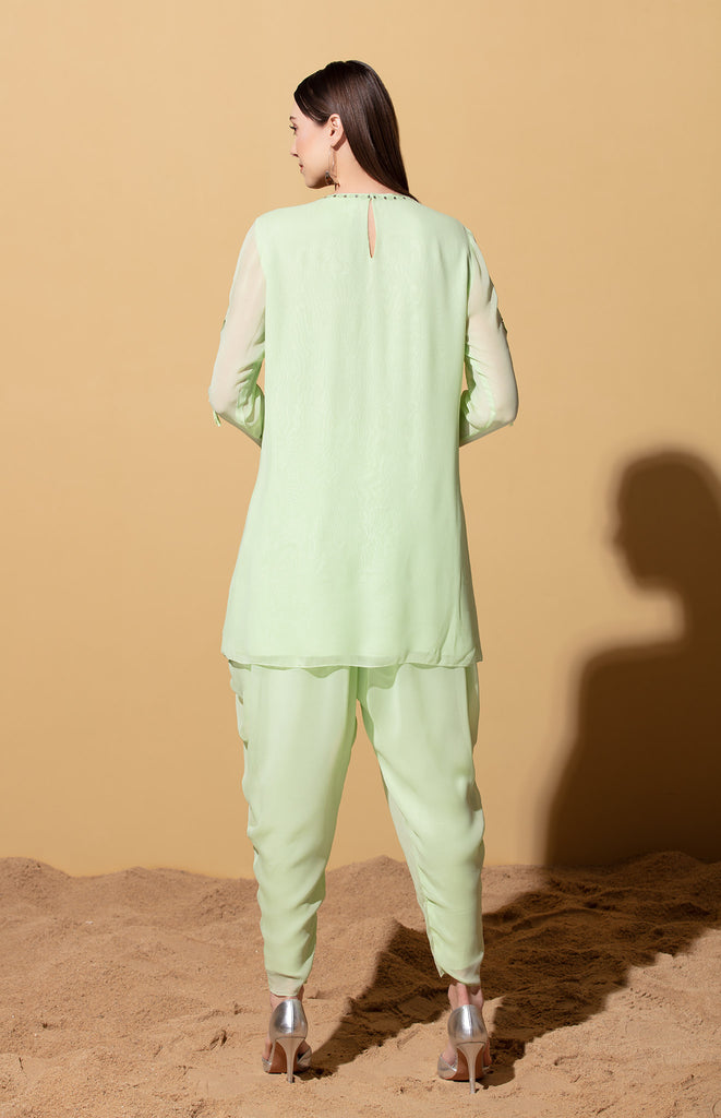Mint Tunic with Dhoti Pants