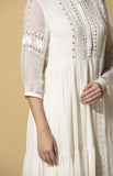 Adah Ivory Anarkali Set in Georgette