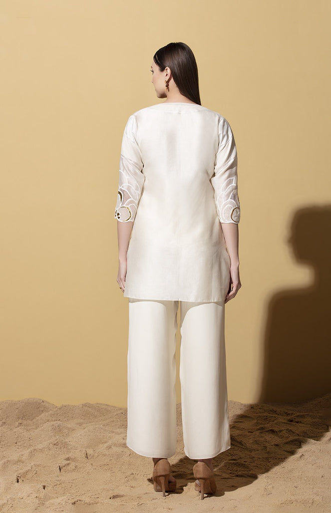 Zinhle Ivory Shirt in Chanderi