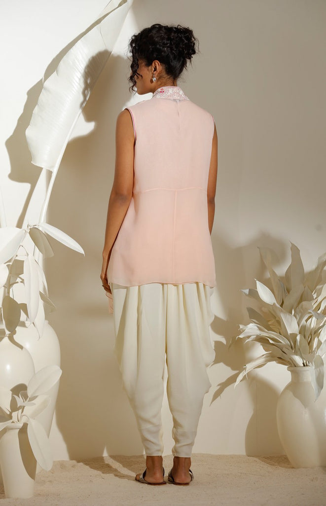 Light Pink Top in Georgette