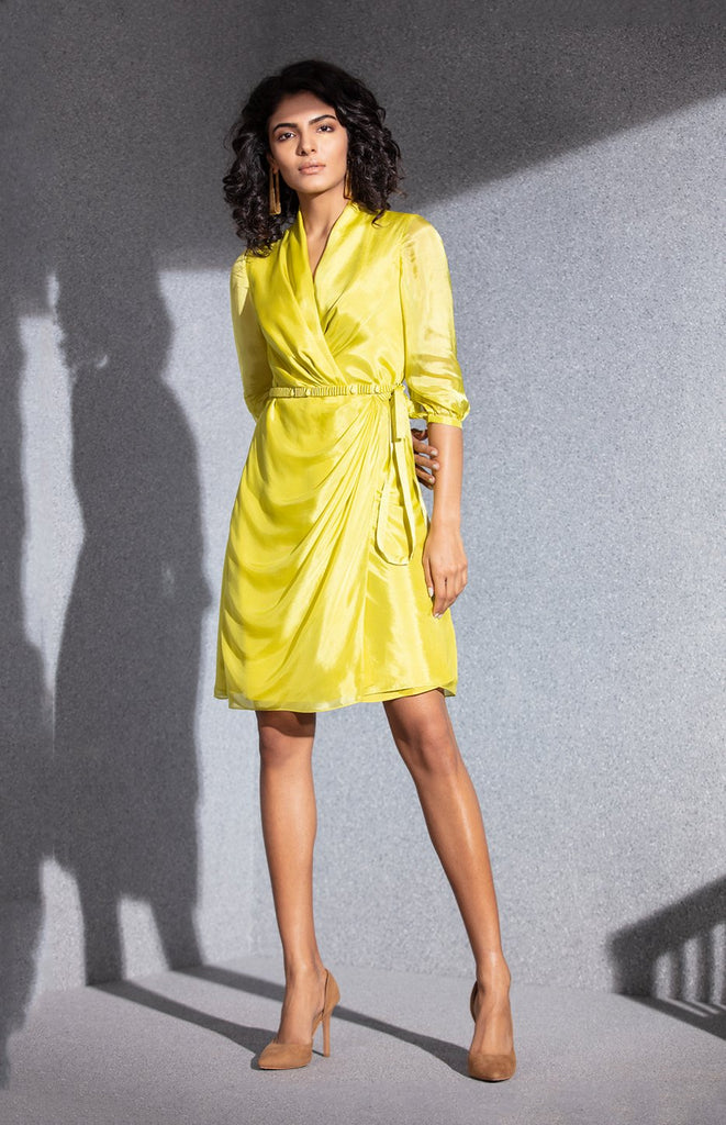 Lime Dress in Silk
