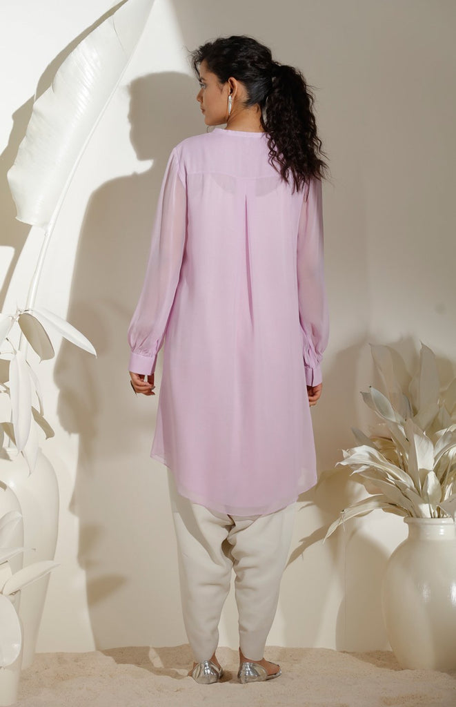 Lilac Tunic in Georgette