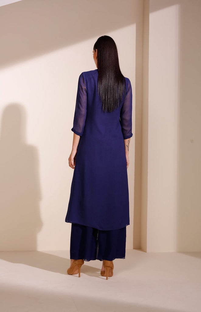 Indigo Tunic In Georgette