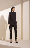 Black Georgette Shirt With Pants