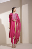 Magenta Suit in Chanderi
