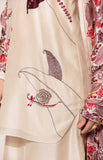 Toosh Appliqué Threaded embroidery Tunic and Palazzo set with digital printed dupatta