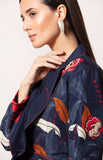 Pasbaan Jacket Set In Navy