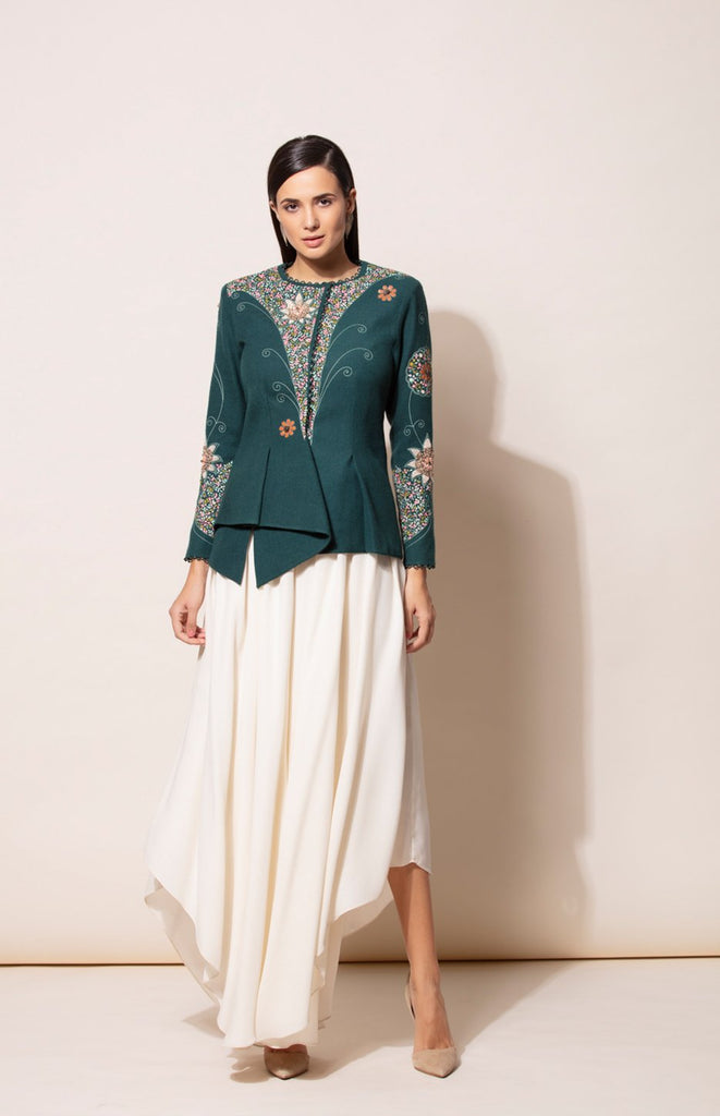 Guldasta Jacket with Aari Embroidery