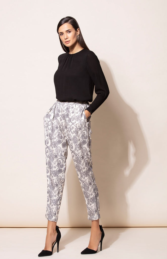 Plain Black Ethnic Shirt with Toosh Pants