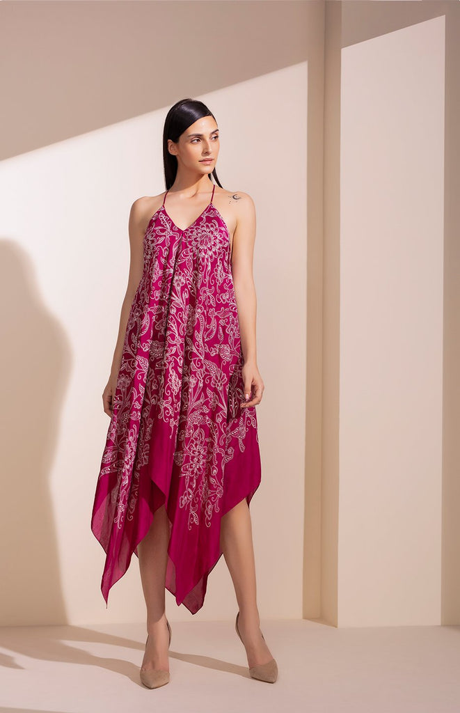 Mulberry Dress In Vis Silk