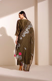 Olive Tunic Set in Chanderi with Screen Printed Dupatta