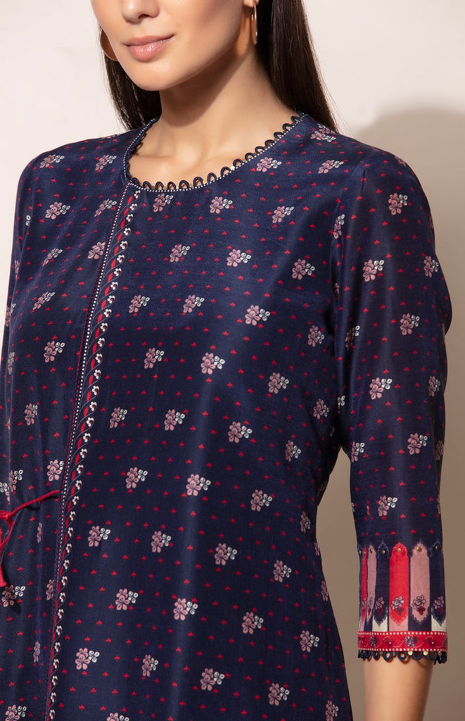 Navy Tunic with all over digital prints