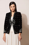 Black velvet Jacket with Inner and Pants