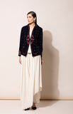 Navy velvet Jacket with Inner and Pants