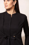 Black Knotted Front Shirt