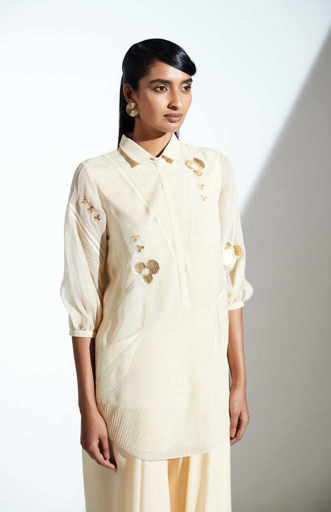 Nyasia Toosh Shirt Set in Georgette